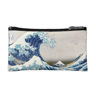 Great Wave Off Kanagawa Hokusai Fine Art Cosmetic Bag