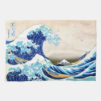 Great Wave Off Kanagawa Hokusai Fine Art Hand Towel