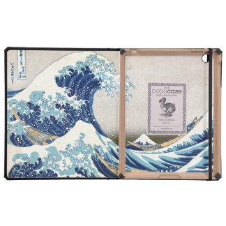 Great Wave Off Kanagawa Hokusai Fine Art iPad Folio Cases