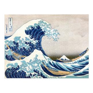 Great Wave Off Kanagawa Hokusai Japanese Fine Art Postcard