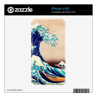 Great Wave Off Kanagawa Hokusai Japanese Vintage Decal For The iPhone 4S