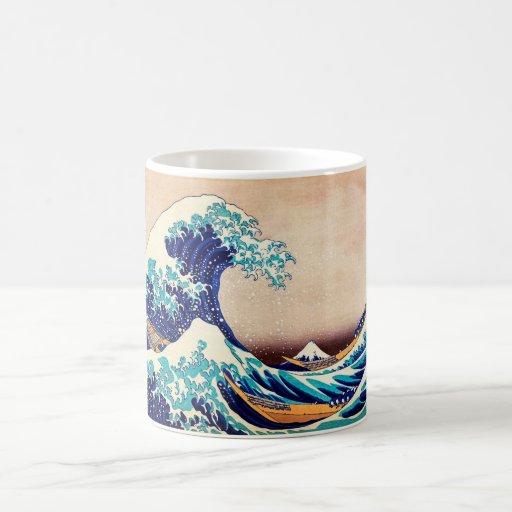Great Wave Off Kanagawa Hokusai Japanese Vintage Classic White Coffee Mug