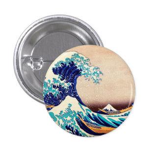 Great Wave Off Kanagawa Hokusai Japanese Vintage Pinback Button