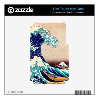 Great Wave Off Kanagawa Hokusai Japanese Vintage iPod Touch 4G Decals