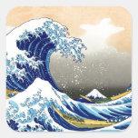Great Wave off Kanagawa ~ Hokusai Square Sticker