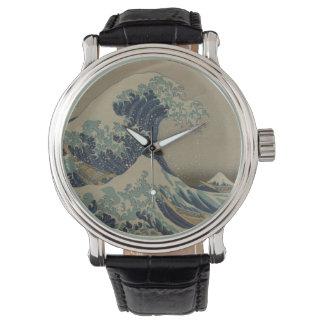 Great Wave Off Kanagawa Japanese Vintage Art Wristwatch
