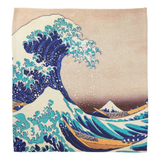 Great Wave Off Kanagawa Japanese Vintage Fine Art Bandana