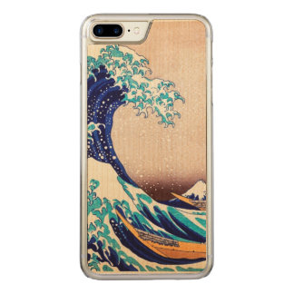 Great Wave Off Kanagawa Japanese Vintage Fine Art Carved iPhone 8 Plus/7 Plus Case