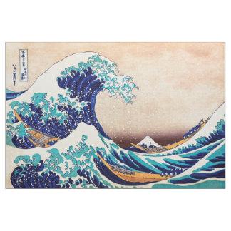 Great Wave Off Kanagawa Japanese Vintage Fine Art Fabric