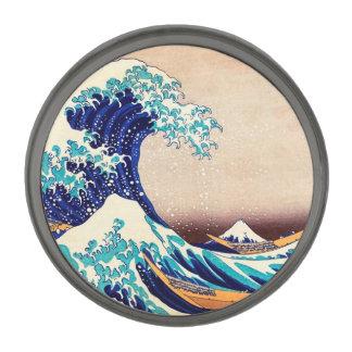 Great Wave Off Kanagawa Japanese Vintage Fine Art Gunmetal Finish Lapel Pin