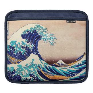 Great Wave Off Kanagawa Japanese Vintage Fine Art iPad Sleeves