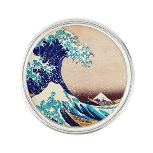 Great Wave Off Kanagawa Japanese Vintage Fine Art Lapel Pin