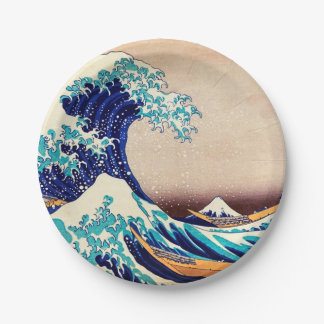 Great Wave Off Kanagawa Japanese Vintage Fine Art Paper Plate