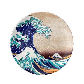 Great Wave Off Kanagawa Japanese Vintage Fine Art Porcelain Plate