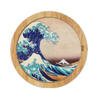 Great Wave Off Kanagawa Japanese Vintage Fine Art Round Cheeseboard
