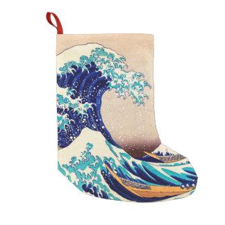 Great Wave Off Kanagawa Japanese Vintage Fine Art Small Christmas Stocking