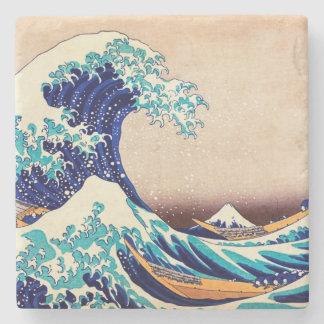 Great Wave Off Kanagawa Japanese Vintage Fine Art Stone Coaster