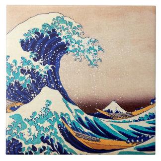 Great Wave Off Kanagawa Japanese Vintage Fine Art Ceramic Tile