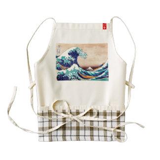 Great Wave Off Kanagawa Japanese Vintage Fine Art Zazzle HEART Apron