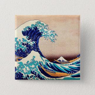 Great Wave Off Kanagawa Japanese Vintage Print Art Button