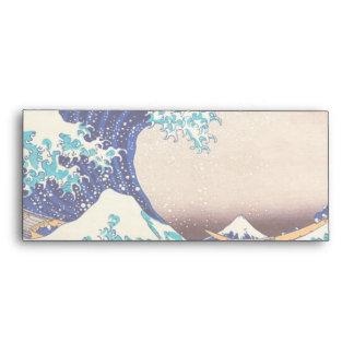 Great Wave Off Kanagawa Japanese Vintage Print Art Envelope