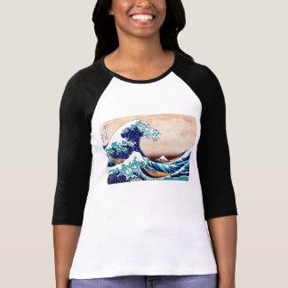 Great Wave Off Kanagawa Japanese Vintage Print Art T-Shirt