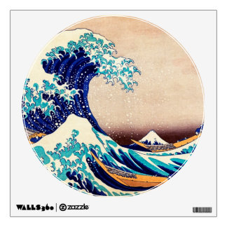 Great Wave Off Kanagawa Japanese Vintage Print Art Wall Sticker