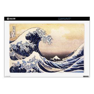 "Great Wave Off Kanagawa Japanese Woodblock Print Decal For 17"" Laptop"
