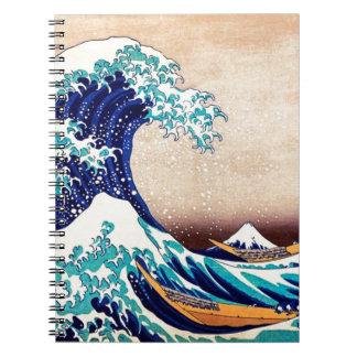Great Wave Off Kanagawa Japanese Woodblock Print Notebook