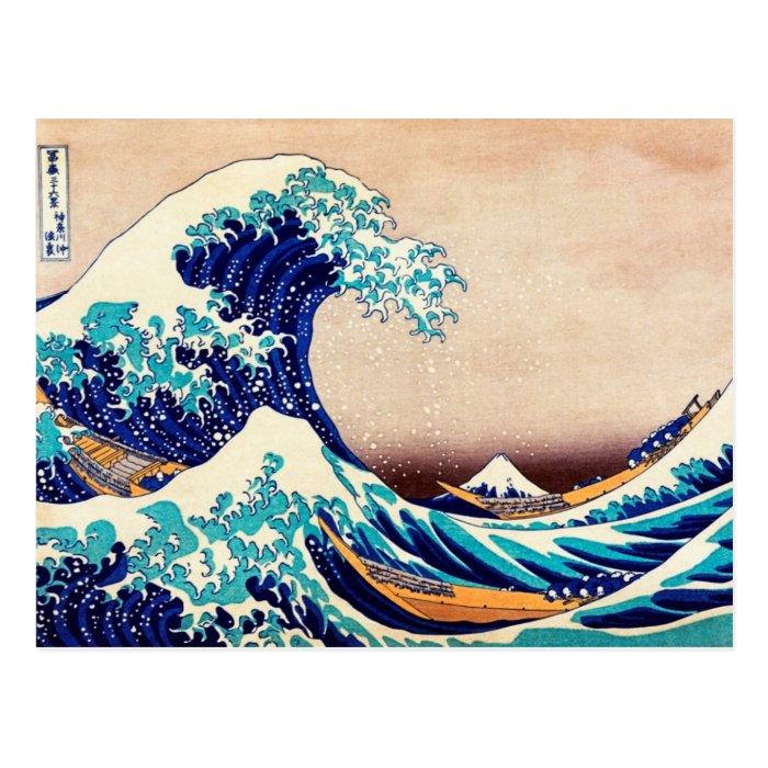 Great Wave Off Kanagawa Japanese Woodblock Print Postcard
