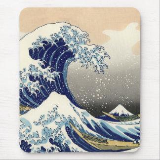 Great wave off Kanagawa Mousemat Mousepads