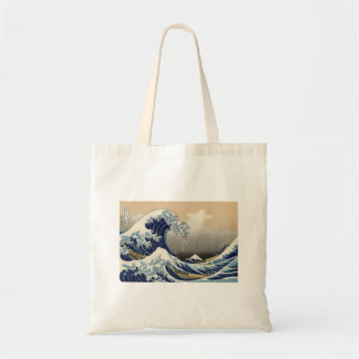 Great Wave off Kanagawa Oriental Fine Art Canvas Bags