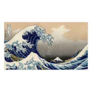 Great Wave off Kanagawa Oriental Fine Art Business Card Template