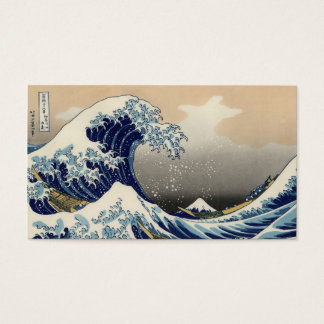 Great Wave off Kanagawa Oriental Fine Art Business Card