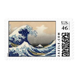 Great Wave off Kanagawa Postage Stamp