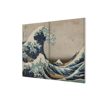 Great Wave off Kanagawa - Pre-1900s Art Image Canvas Print