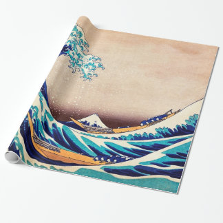 Great Wave Off Kanagawa Vintage Japanese Fine Art Wrapping Paper