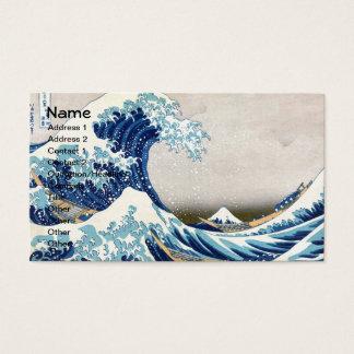 Great Wave Off Kanagawa Vintage Japanese Fine Business Card