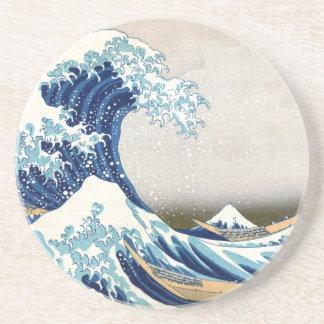 Great Wave Off Kanagawa Vintage Japanese Fine Drink Coaster