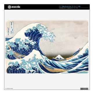 Great Wave Off Kanagawa Vintage Japanese Fine MacBook Skins
