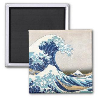 Great Wave Off Kanagawa Vintage Japanese Fine Magnet