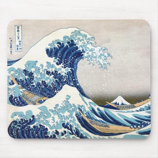 Great Wave Off Kanagawa Vintage Japanese Fine Mouse Pad