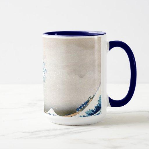 Great Wave Off Kanagawa Vintage Japanese Fine Mug