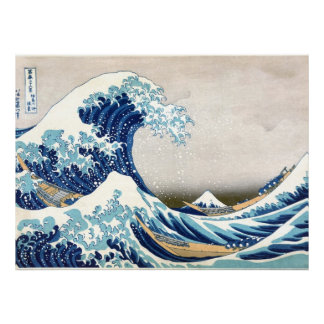 Great Wave Off Kanagawa Vintage Japanese Fine Poster