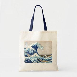 Great Wave Off Kanagawa Vintage Japanese Fine Tote Bag