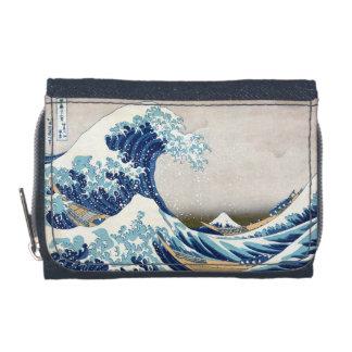 Great Wave Off Kanagawa Vintage Japanese Fine Wallets