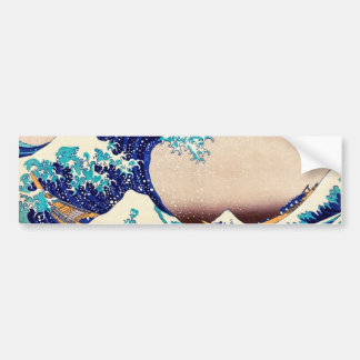 Great Wave Off Kanagawa Vintage Japanese Print Art Bumper Sticker