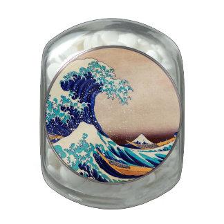 Great Wave Off Kanagawa Vintage Japanese Print Art Glass Candy Jar