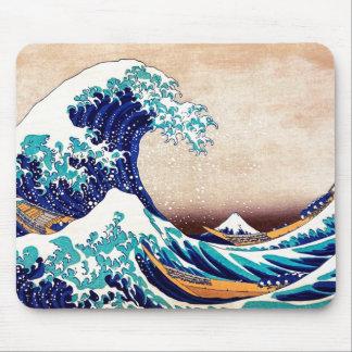Great Wave Off Kanagawa Vintage Japanese Print Art Mousepads