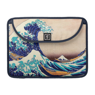 Great Wave Off Kanagawa Vintage Japanese Print Art Sleeves For MacBook Pro